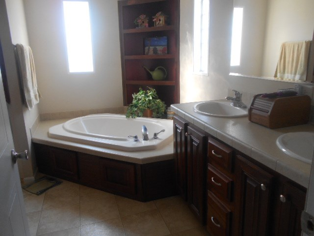 Soaking tub/double sinks