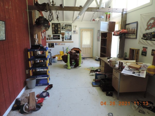 office at rear of garage
